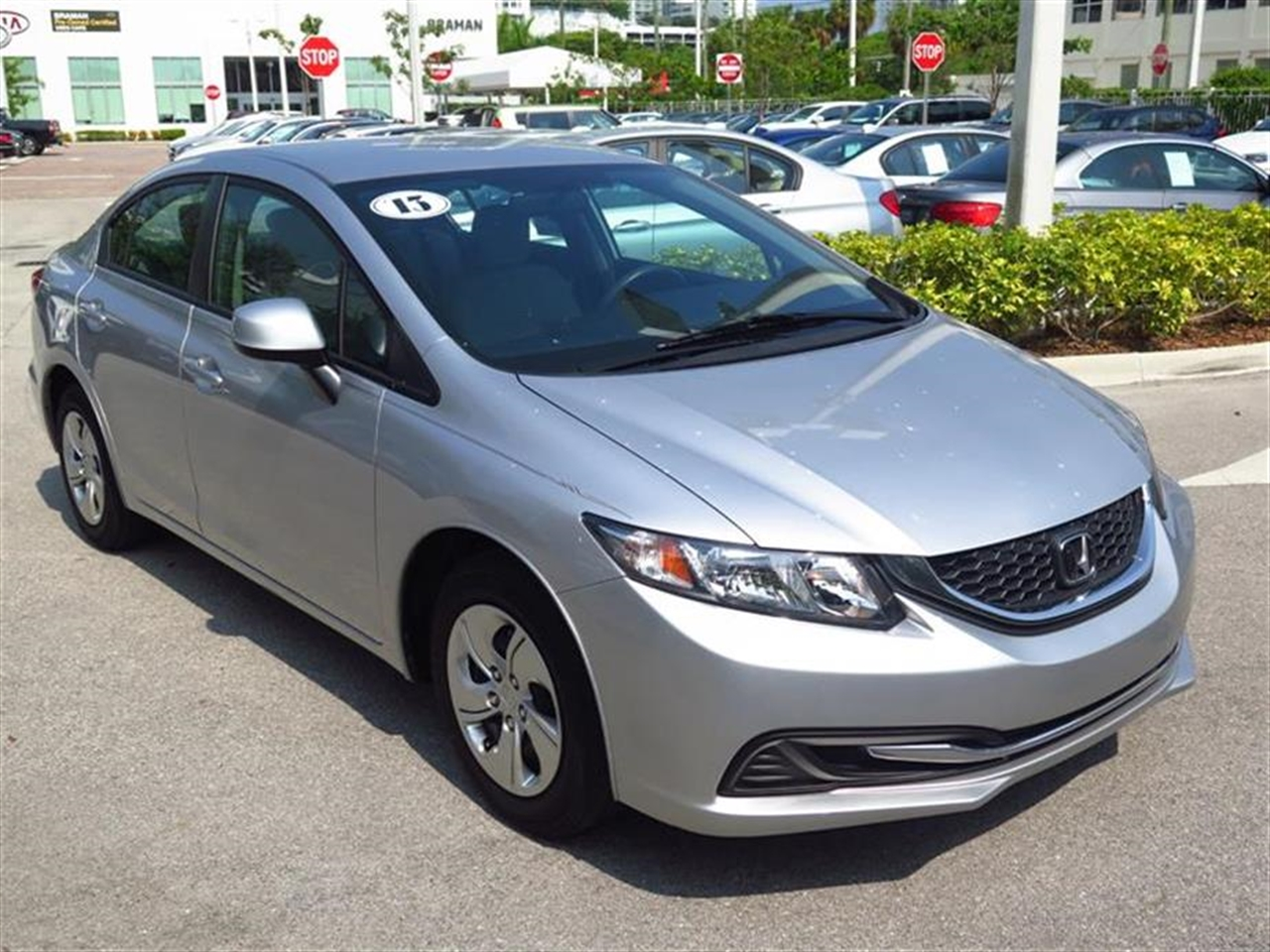 2013 HONDA CIVIC 4dr Auto LX 11826 miles 2-tier instrument panel wblue backlit gauges -inc tach