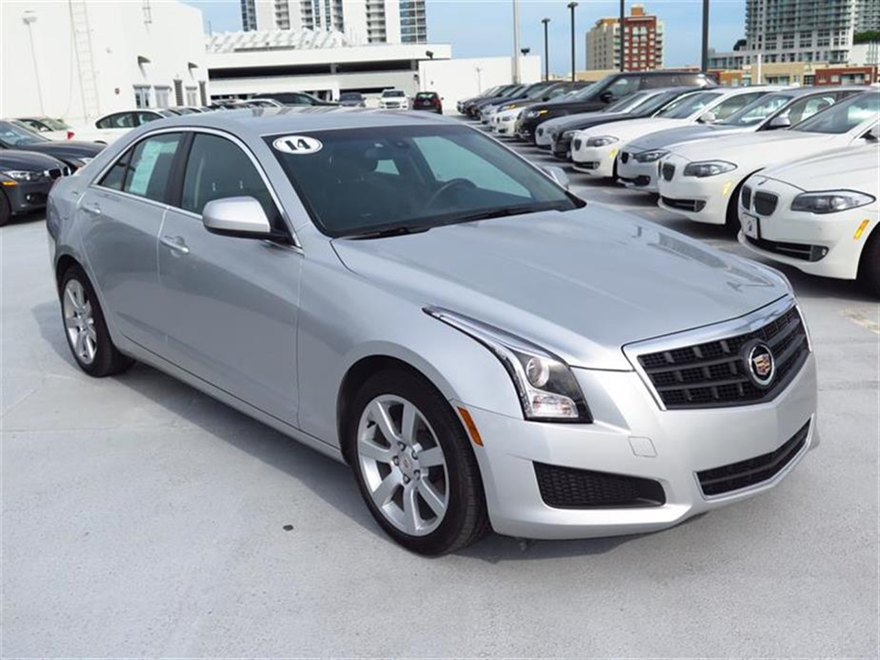 2014 CADILLAC ATS 4dr Sdn 25L Standard RWD 10257 miles Air filtration system Armrest front cent