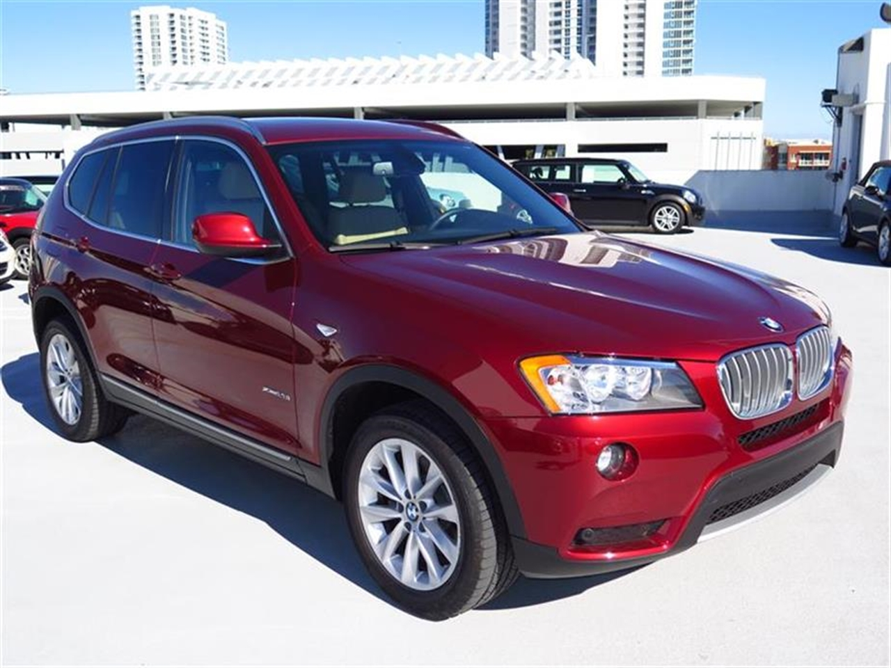 2012 BMW X3 AWD 4dr 28i 12683 miles 3-spoke leather-wrapped multi-function sport steering wheel wi