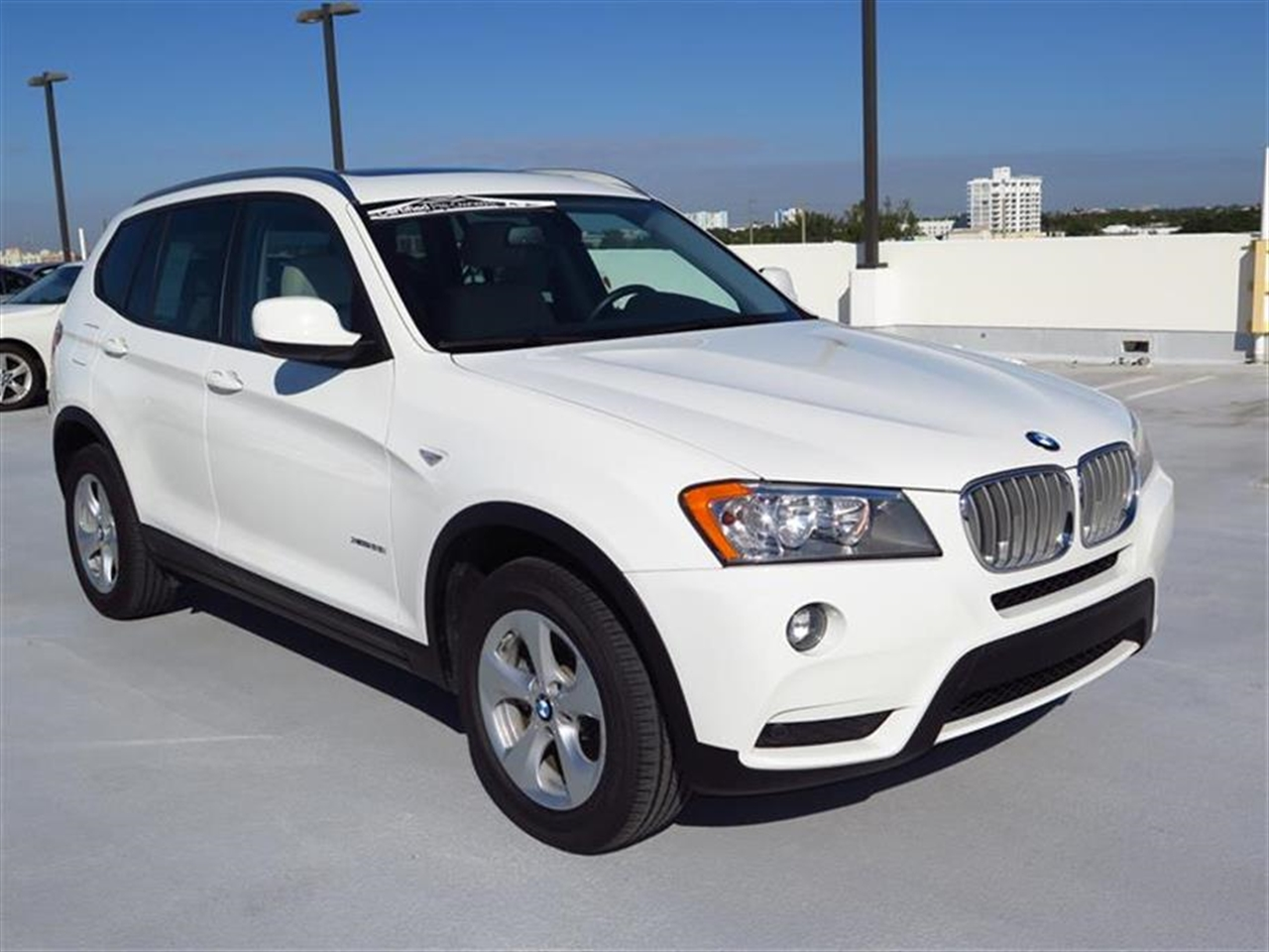 2012 BMW X3 AWD 4dr 28i 20494 miles 3-spoke leather-wrapped multi-function sport steering wheel wi