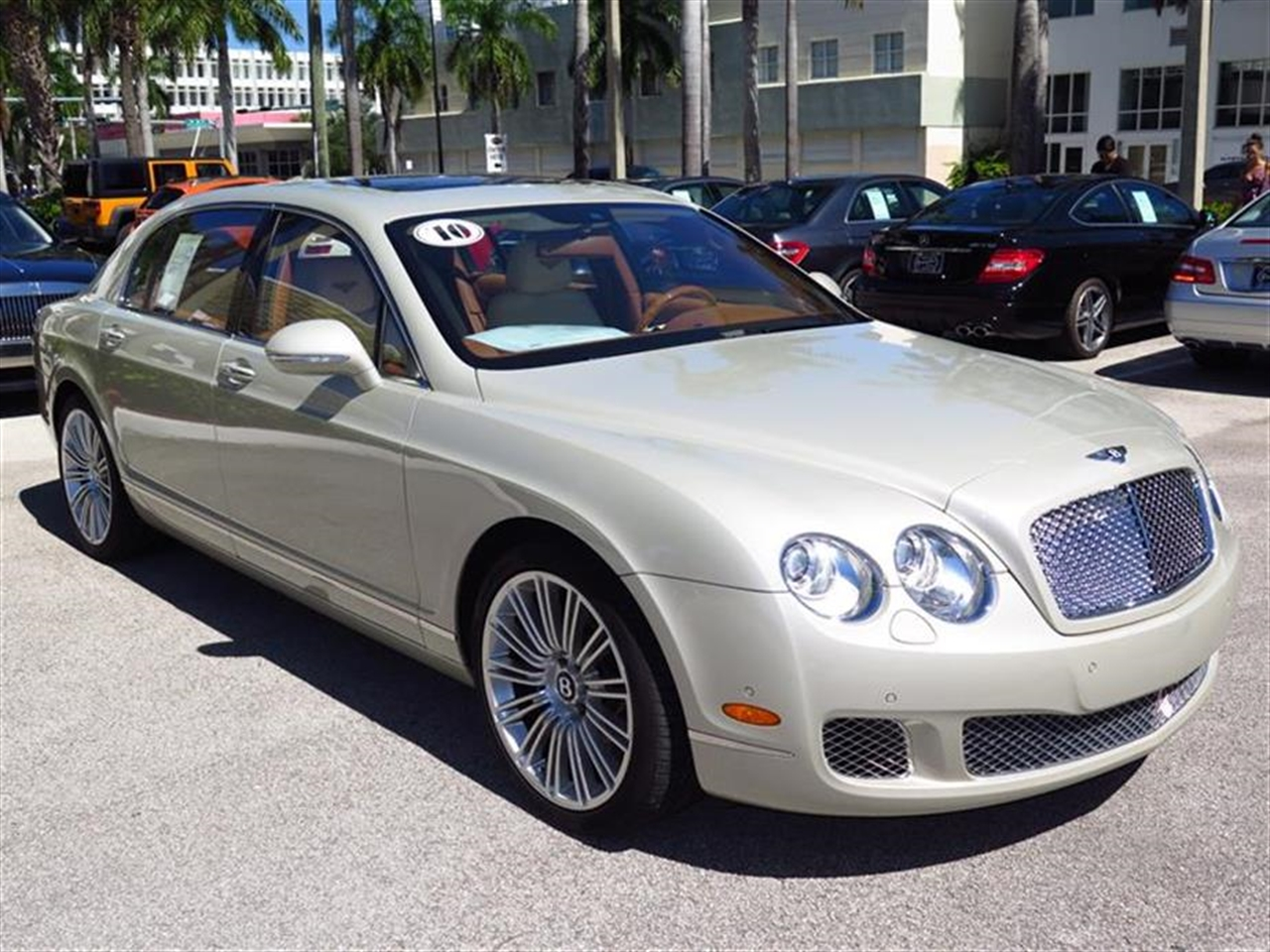 2010 BENTLEY CONTINENTAL FLYING SPUR 4dr Sdn Speed 13550 miles 3-spoke monotone leather trimmed st