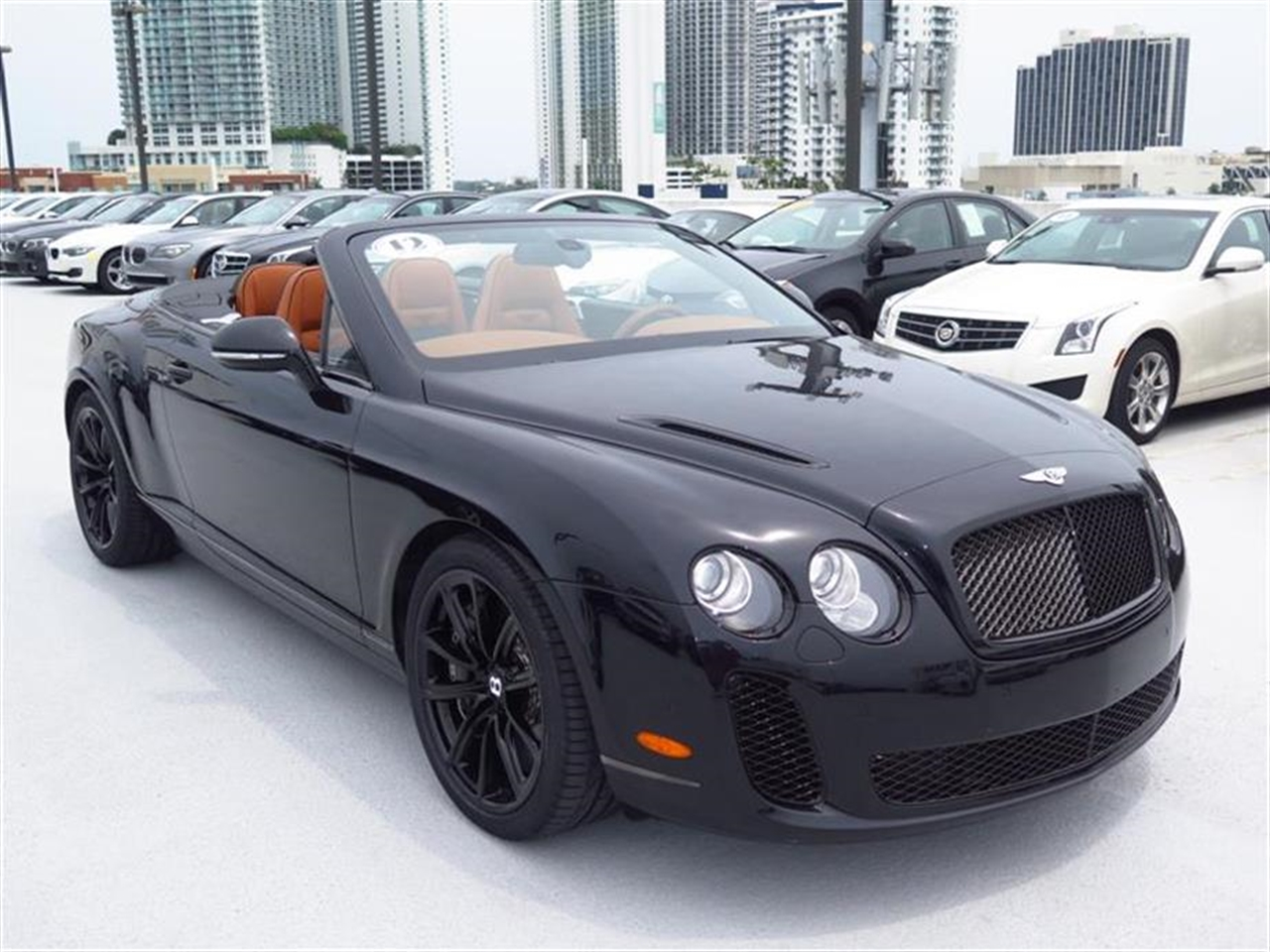 2012 BENTLEY CONTINENTAL GTC 2dr Conv Supersports 5296 miles 3-spoke single-tone leather multi-fu