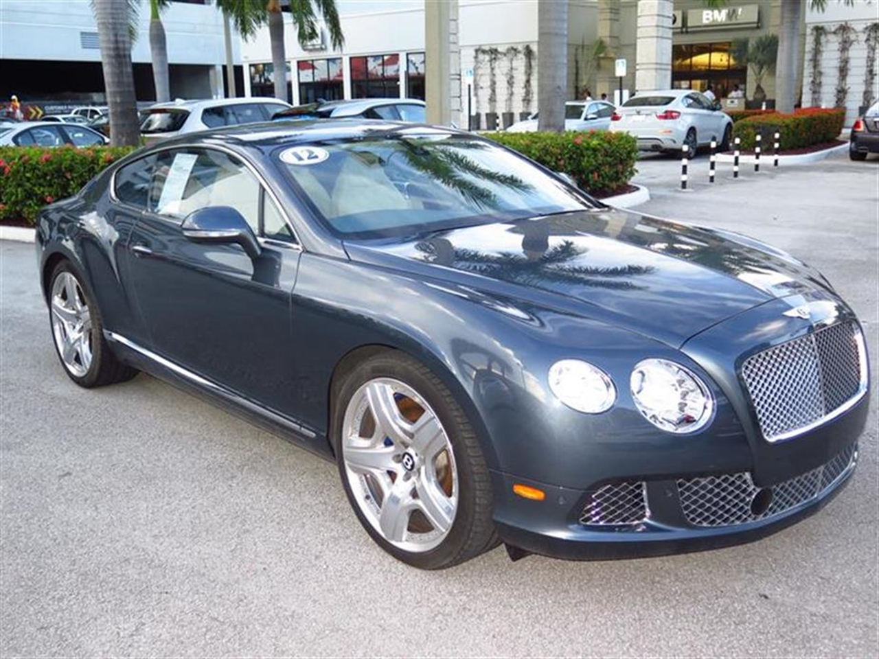 2012 BENTLEY CONTINENTAL GT 2dr Cpe 10703 miles 3-spoke monotone leather trimmed steering wheel C