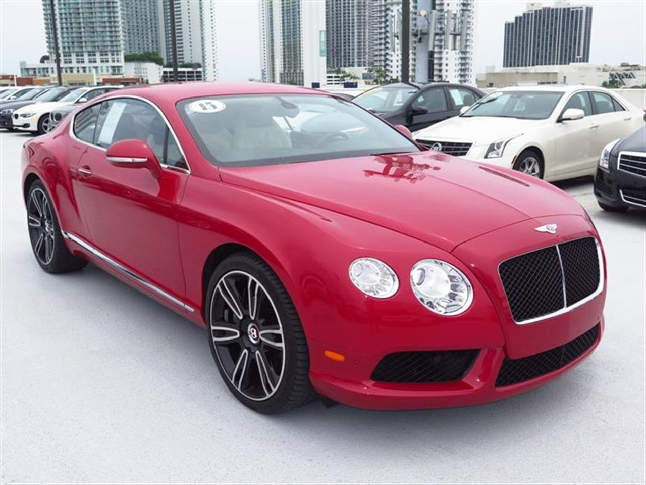 2013 BENTLEY CONTINENTAL GT 2dr Cpe 4851 miles 3-spoke monotone leather trimmed steering wheel C