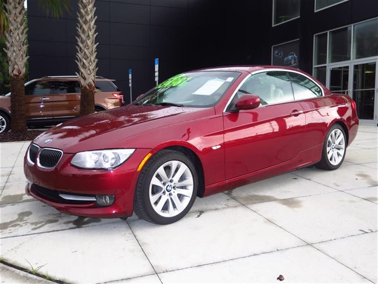 2011 BMW 3 SERIES 2dr Conv 328i 42264 miles 10-way power front bucket seats with 2-way manual head
