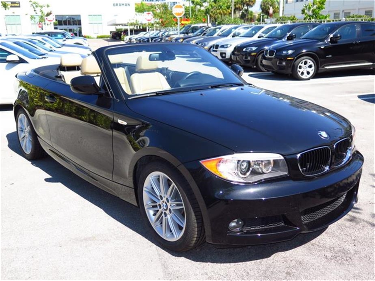 2012 BMW 1 SERIES 2dr Conv 128i 15460 miles 3-spoke leather-wrapped multi-function sport steering