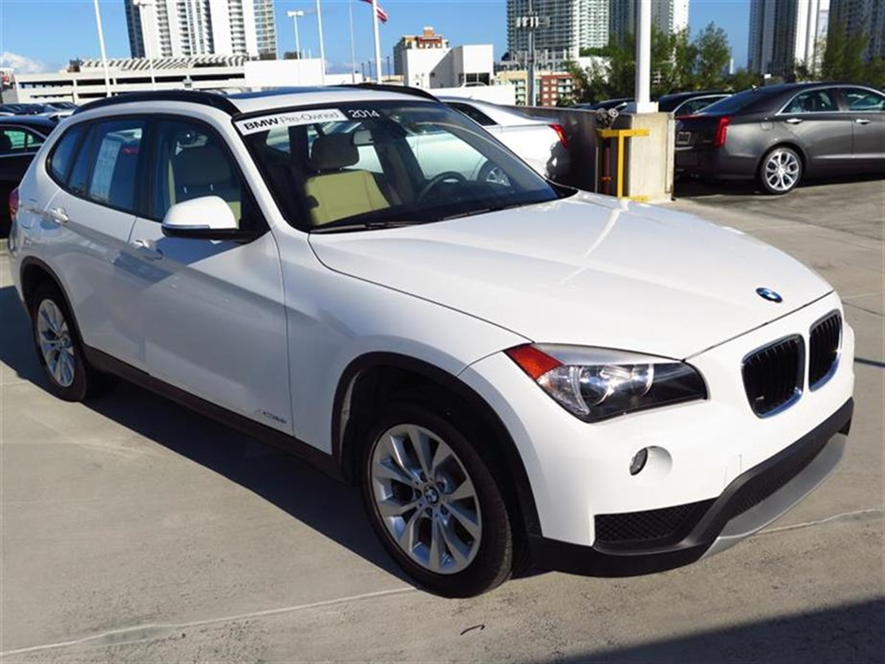 2014 BMW X1 AWD 4dr xDrive28i 9677 miles 2 Seatback Storage Pockets 3 12V DC Power Outlets LEATH