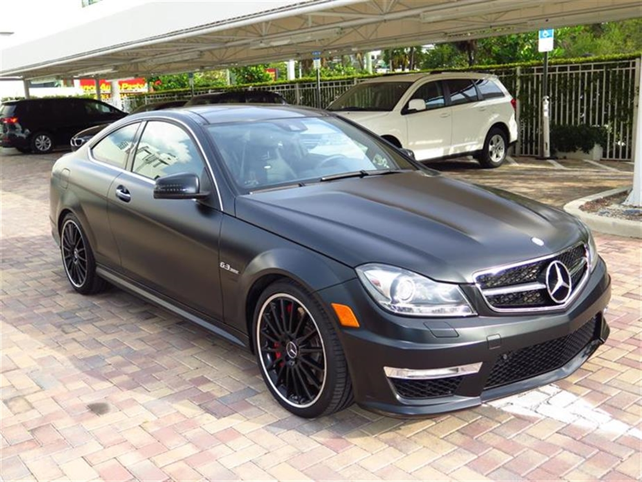 2012 Mercedes C-CLASS 2dr Cpe C63 AMG RWD 21093 miles 58 central controller display wretractable