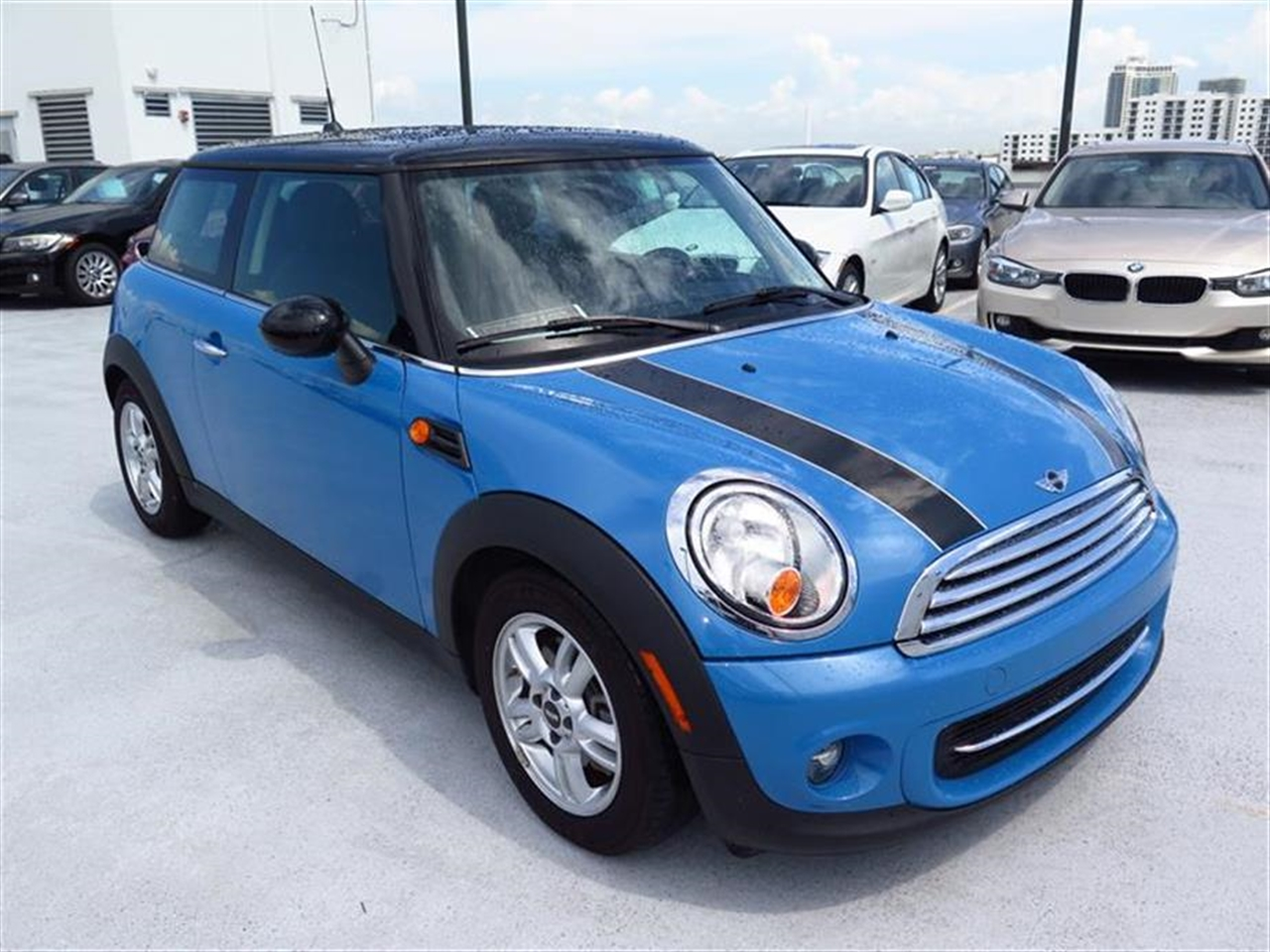 2013 MINI COOPER HARDTOP 2dr Cpe 13236 miles 1 rear cup holder 12V auxiliary pwr outlet in cock