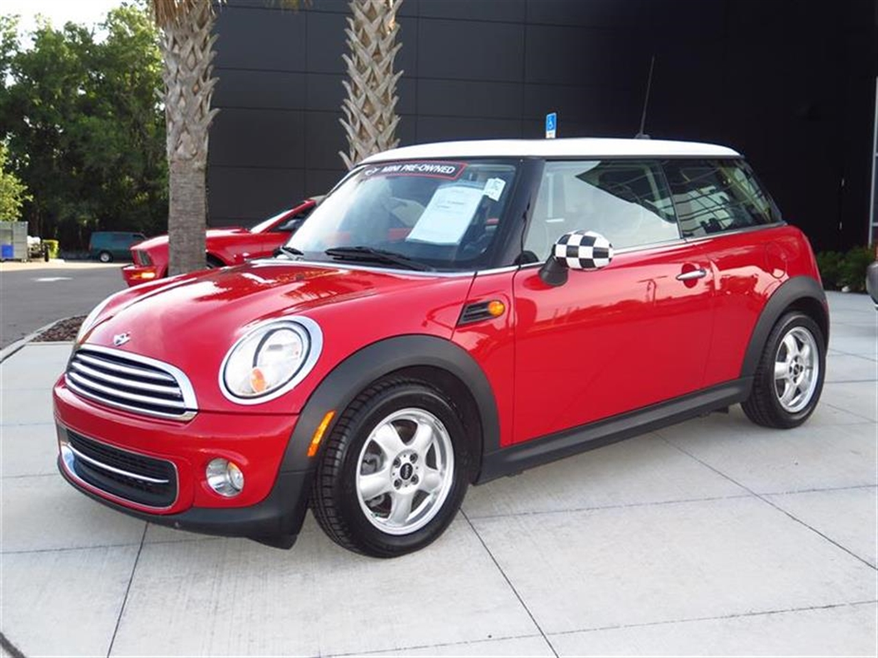 2011 MINI COOPER HARDTOP 2dr Cpe 77242 miles 1 rear cup holder 12V auxiliary pwr outlet in cock