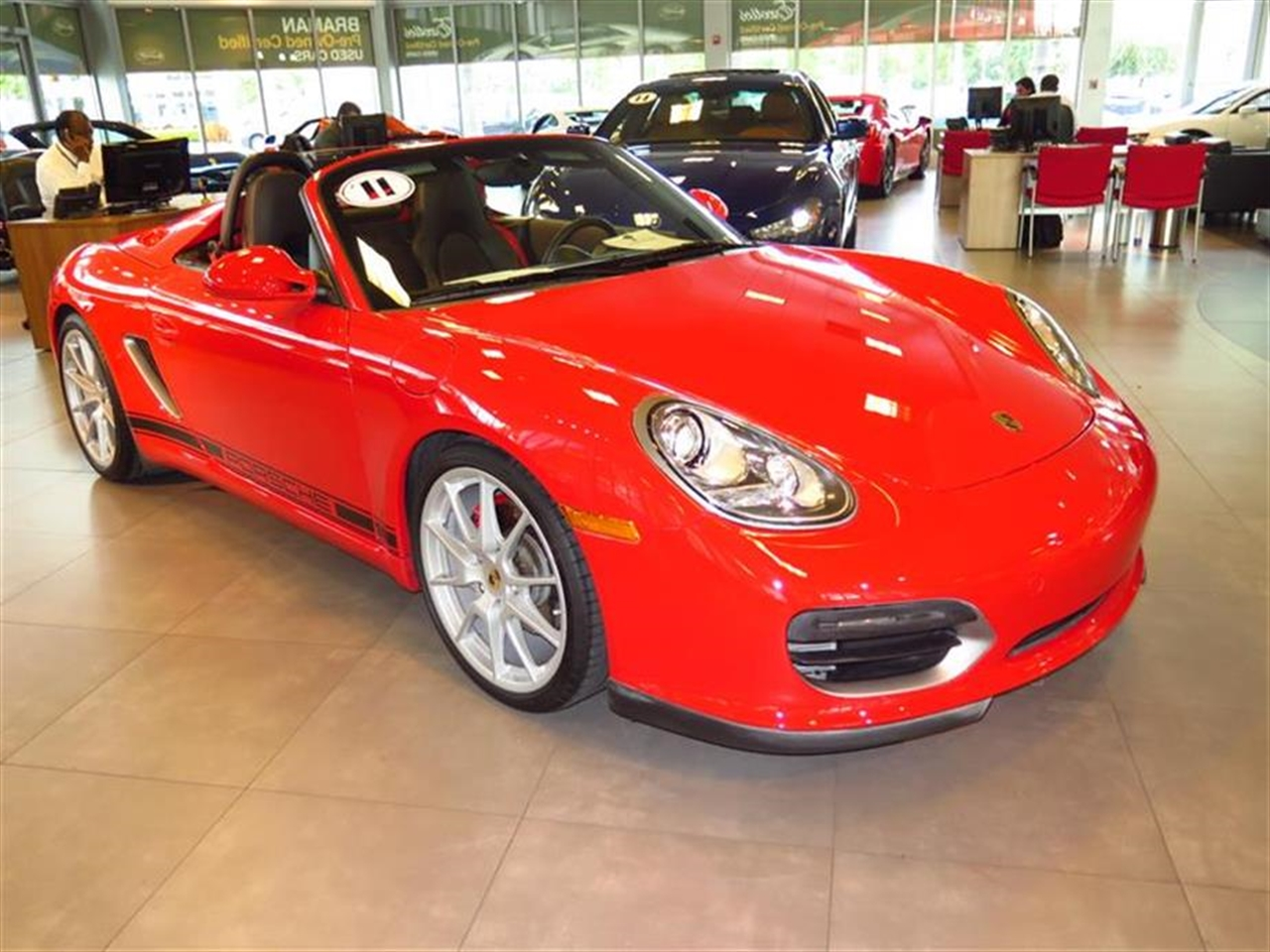 2011 PORSCHE BOXSTER 2dr Roadster Spyder 21822 miles 2 auxiliary pwr outlets 3-spoke leather-wr